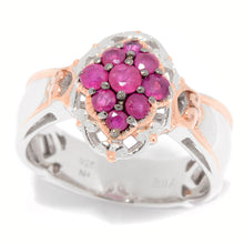 Load image into Gallery viewer, Gems en Vogue 0.7ctw Burmese Ruby Engraved Cocktail Ring