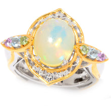 Load image into Gallery viewer, Gems en Vogue Ethiopian Opal & Multi Gemstone North-South Ring