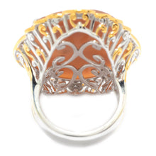 Load image into Gallery viewer, Gems en Vogue Oval Shaped Carved Shell Portrait Cameo Ring
