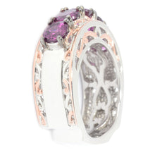 Load image into Gallery viewer, Gems en Vogue 3.08ctw Color Change Purple Garnet 5-Stone Band Ring