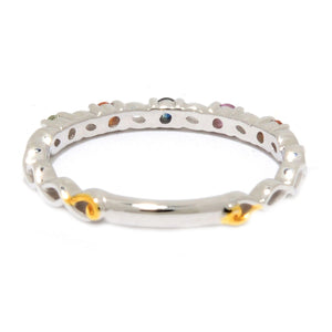 Gems en Vogue Multi Sapphire Stack Band Ring
