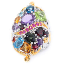 "Load image into Gallery viewer, Gems en Vogue ""Theater District"" Ruby & Multi Gemstone Cluster Ring"