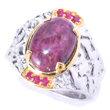 Load image into Gallery viewer, Gems en Vogue Tourmaline & Ruby Men's Ring