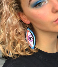 Load image into Gallery viewer, Sapphire Blue Creature Earrings