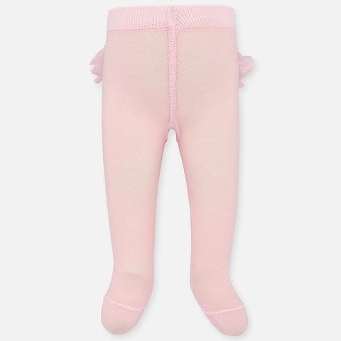 Mayoral Baby Rose Ruffled Pantyhose