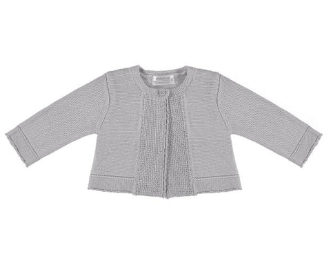 Basic Shell Grey Knit Cardigan