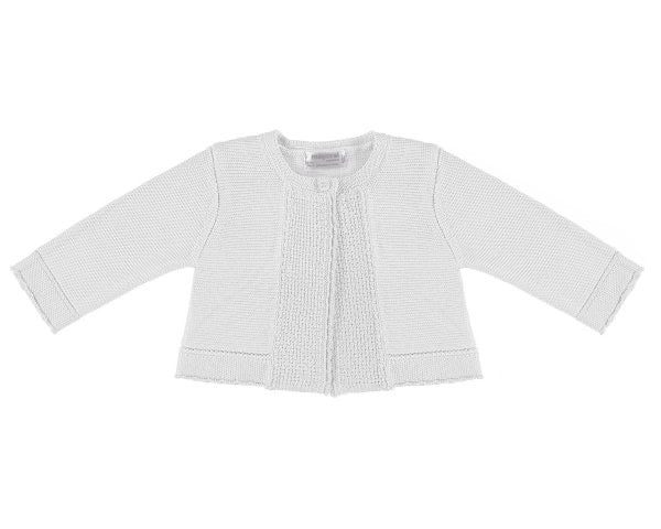 Basic White Knit Cardigan