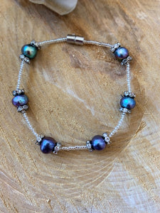 Purple Fresh Water Pearl Bracelet
