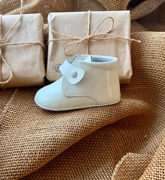Ivory Leather Bootie Soft Sole Shoe