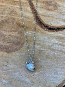 Pearl Teapot Necklace.
