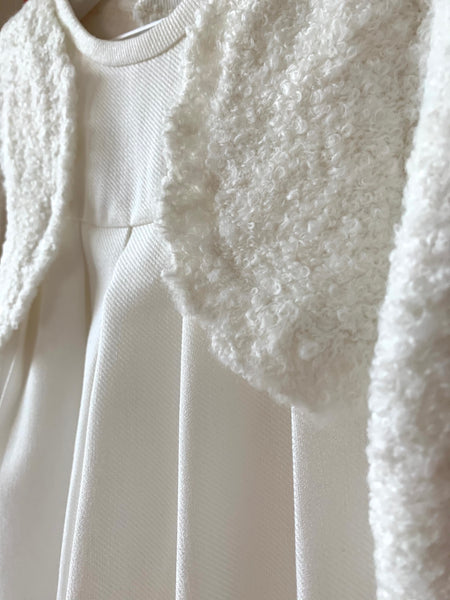 Off-White Wool Cardigan Dress