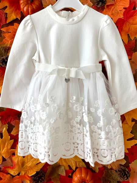 Long Sleeve Floral Lace Dress