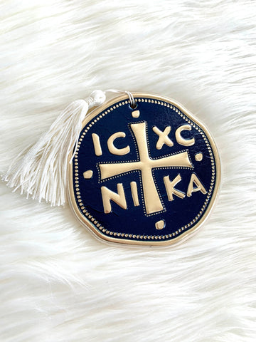 IC XC NI KA Navy and Gold - White