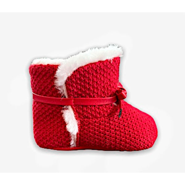 Red Knit Booties