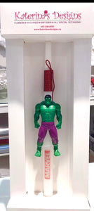Marvel Hulk Easter Candle