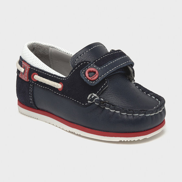 Leather Navy Loafers