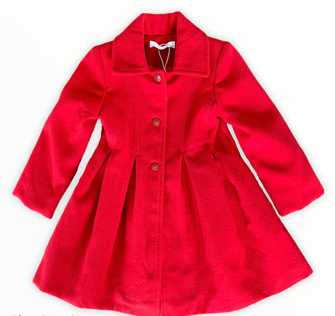 Cherry Red Winter Dress Coat