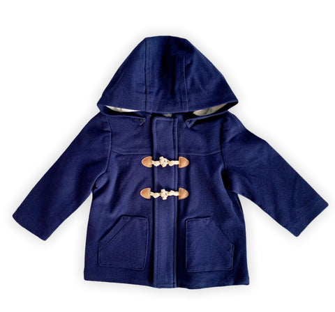 Navy and Tan Coat