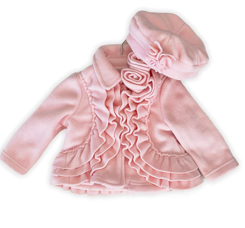 Blush Pink Ruffled Jacket Set