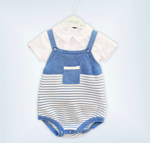 Blue Cotton Onesie Outfit