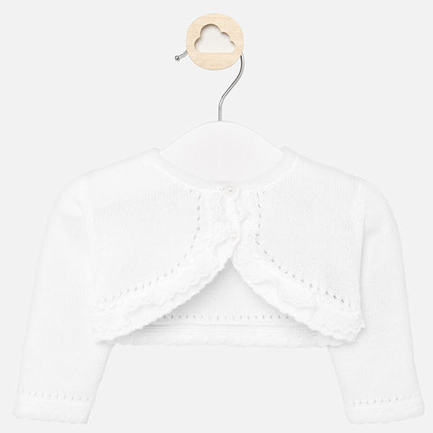 Rebecas White Ceremony Cardigan