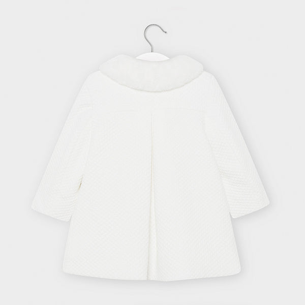 Structured Off-White Coat