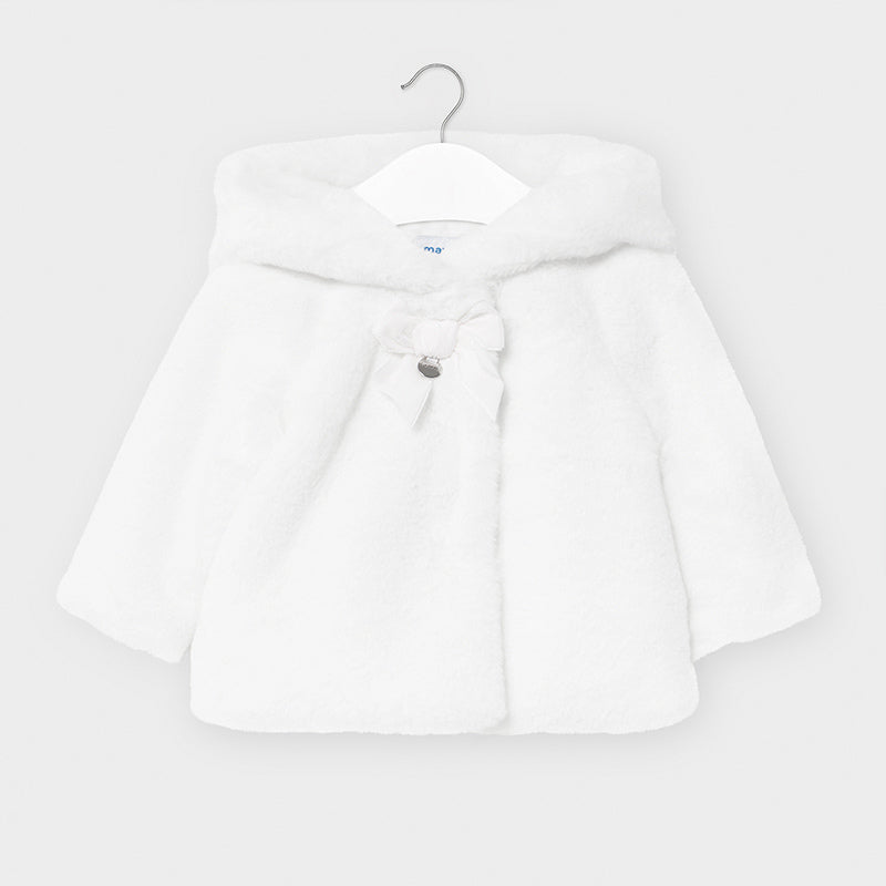 Plush White Coat