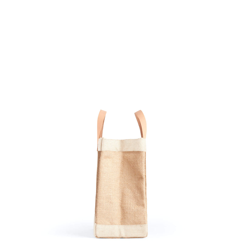 Petite Market Bag in Natural with White Stripes