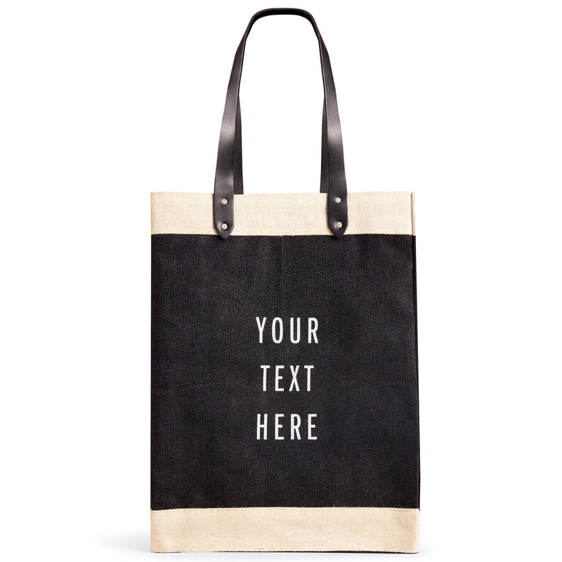 Market Bag in Black with Long Handle