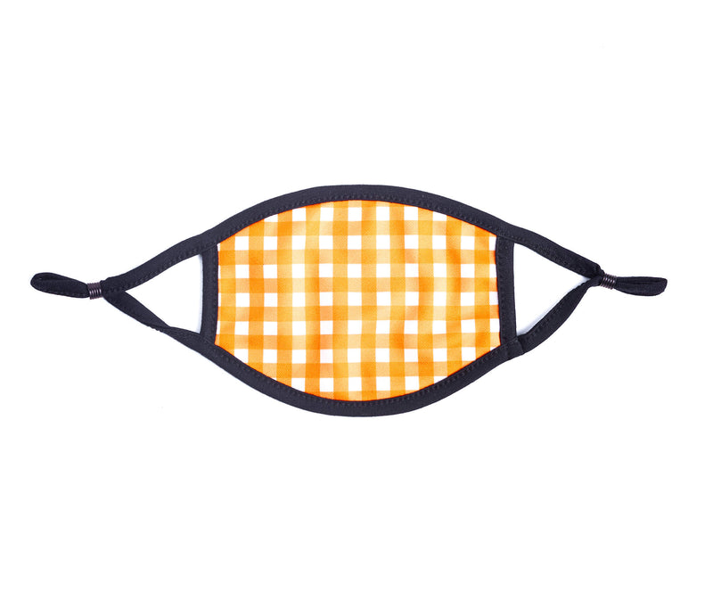 Adult Face Mask in Orange & White Gingham