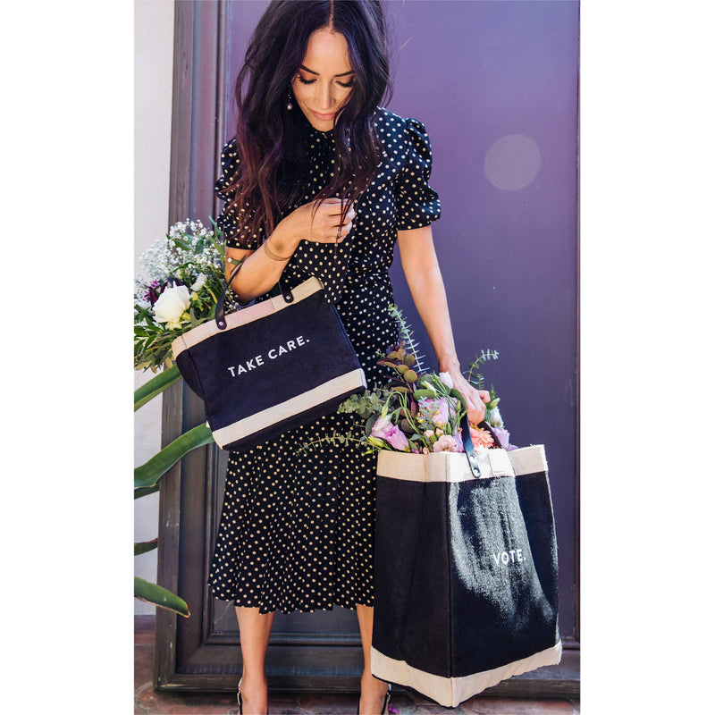 Market Bag in Black for Abigail Spencer
