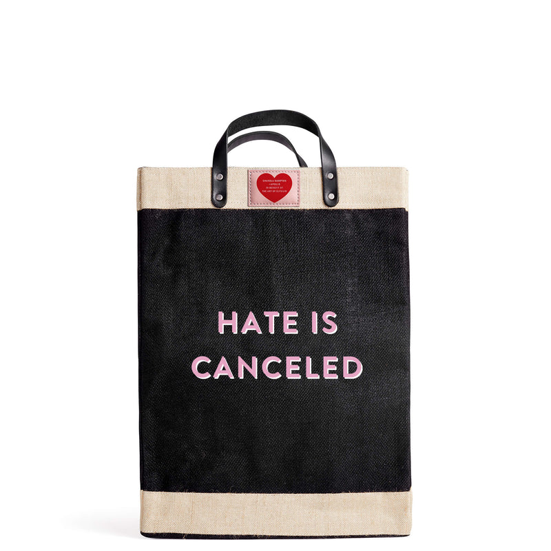 "Market Bag in Black for Shanola Hampton ""Hate is Canceled"""