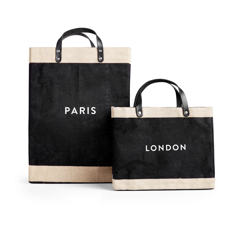 Market Bag and Petite Market Bag Bundle with Paris/London