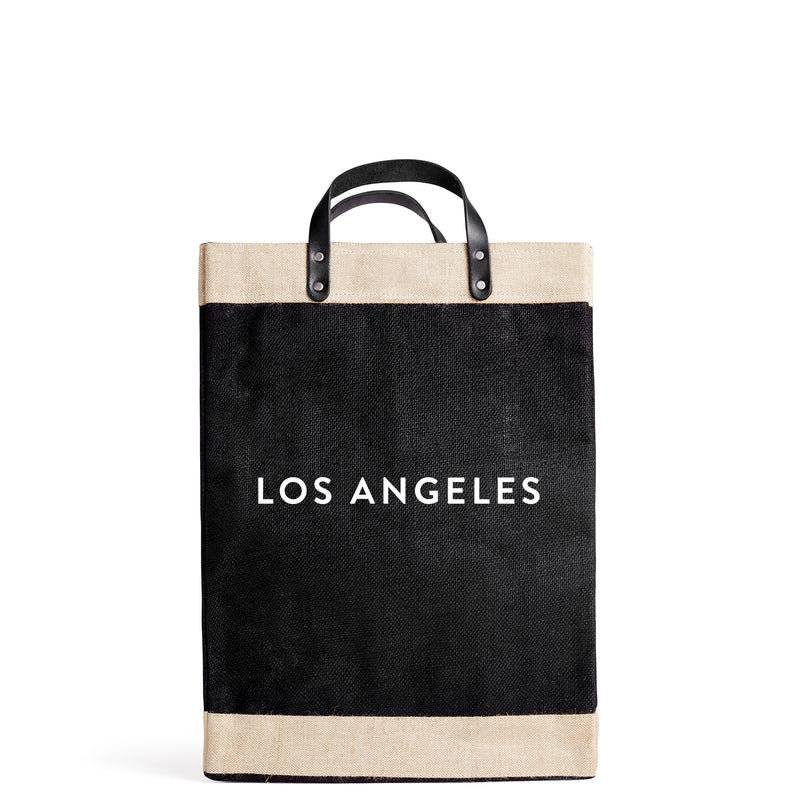 "Market Bag in Black with ""LOS ANGELES."""