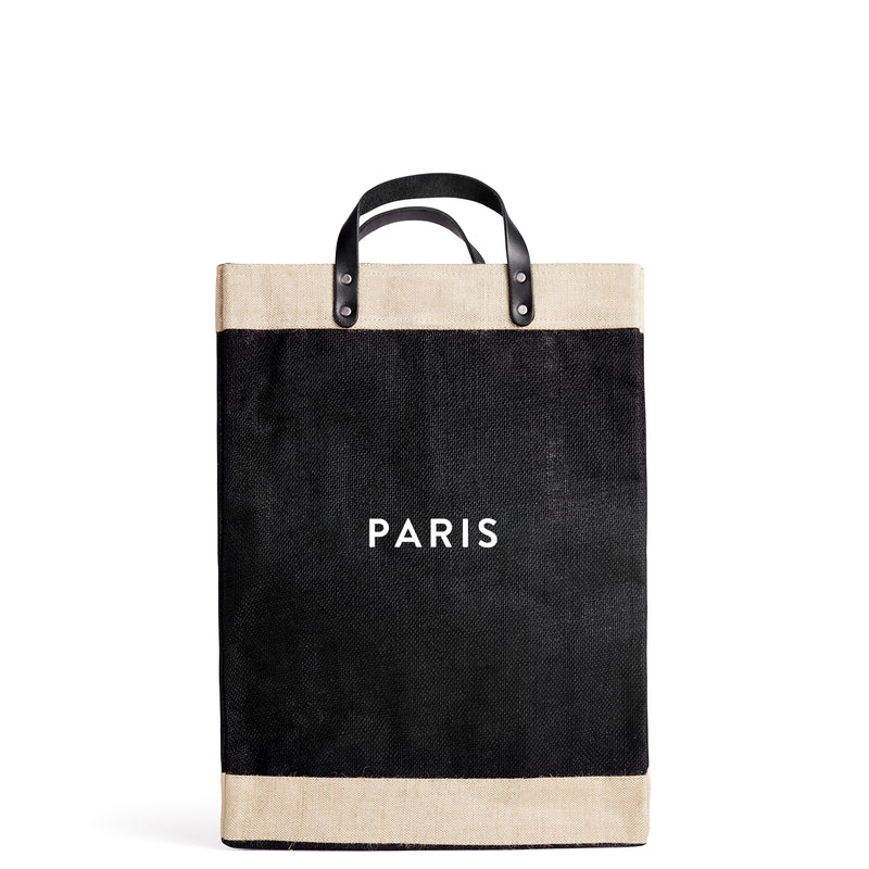 "Market Bag in Black with ""PARIS"""