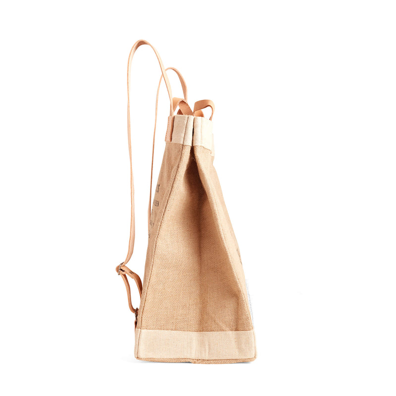 Market Bag in Natural Backpack