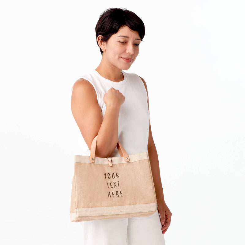 Petite Market Bag in Natural Backpack