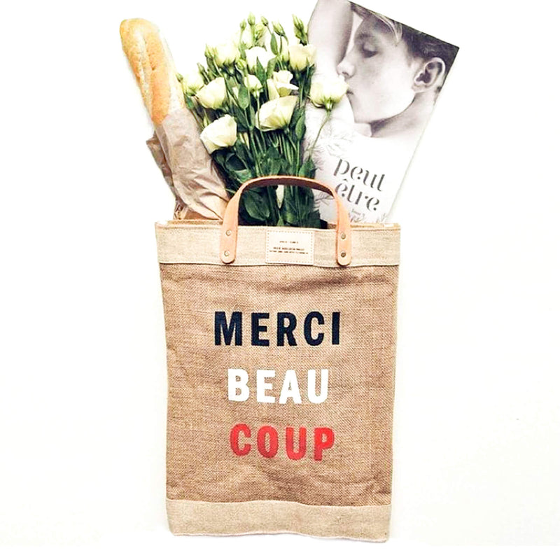 "Market Bag in Natural for Clare V. ""Merci Beau Coup"""