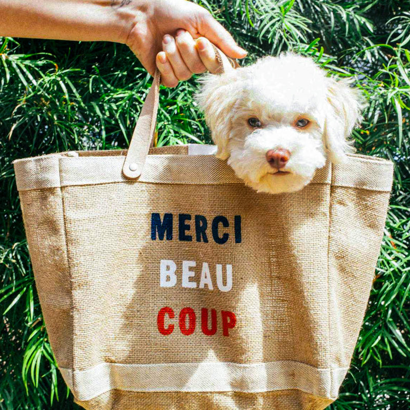 "Petite Market Bag in Natural for Clare V. ""Merci Beau Coup"""