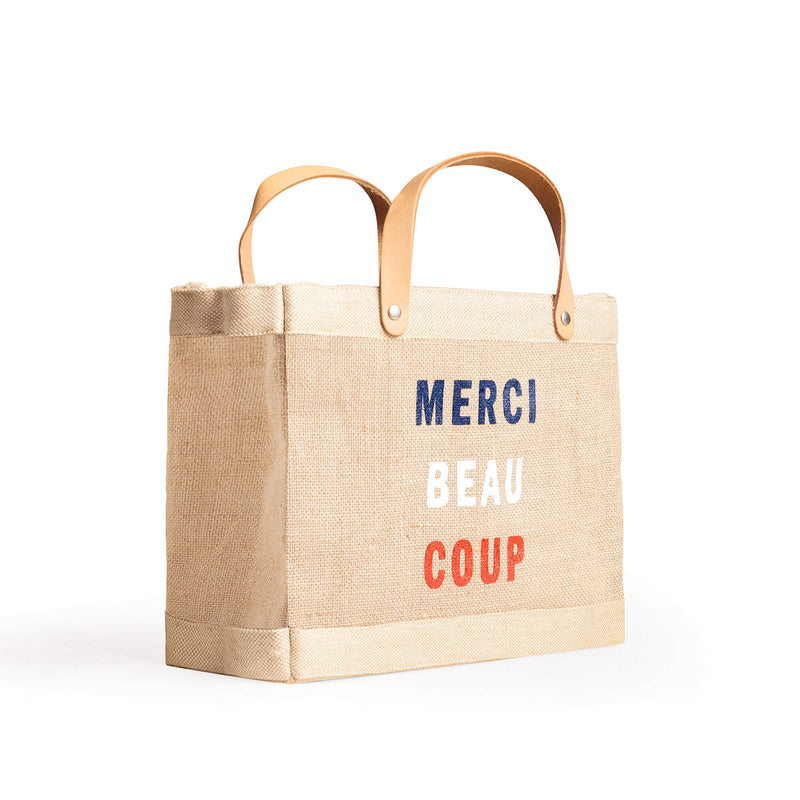"Market Bag and Petite Market Bag Bundle in Natural for Clare V. ""Merci Beau Coup"""