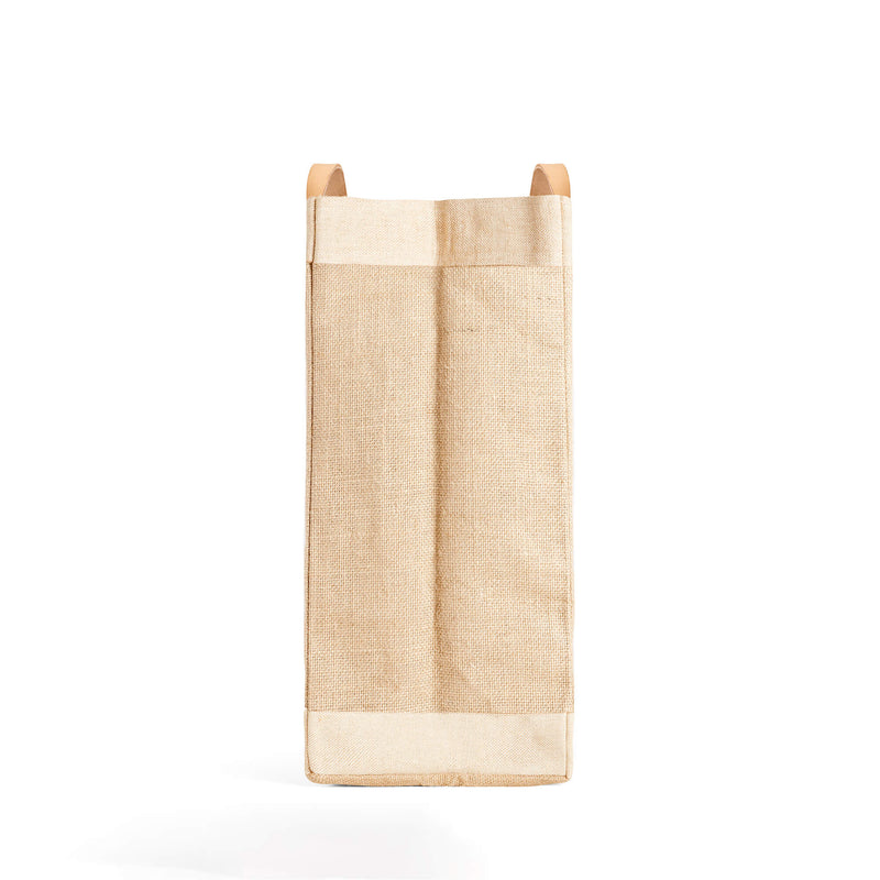 "Market Bag in Natural with ""Archie's Press"""