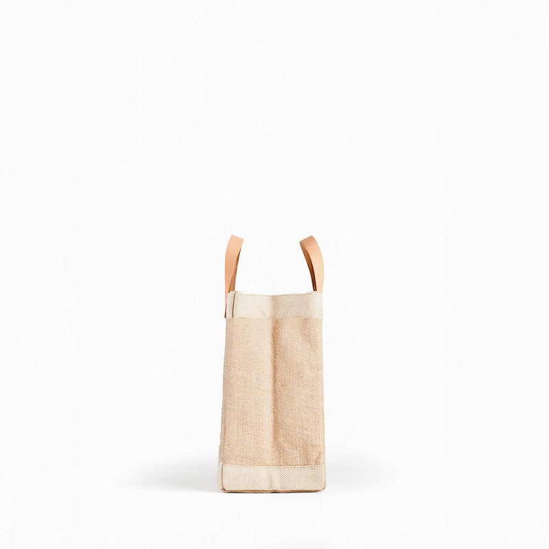 "Petite Market Bag in Natural with ""Jordan Minardi"""