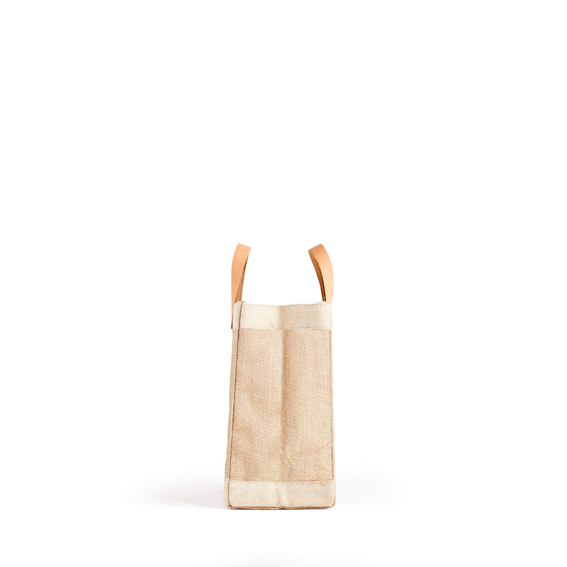 "Petite Market Bag in Natural with ""Yumi Yamada"""