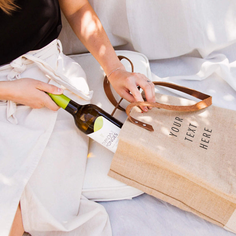 Wine Tote in Natural