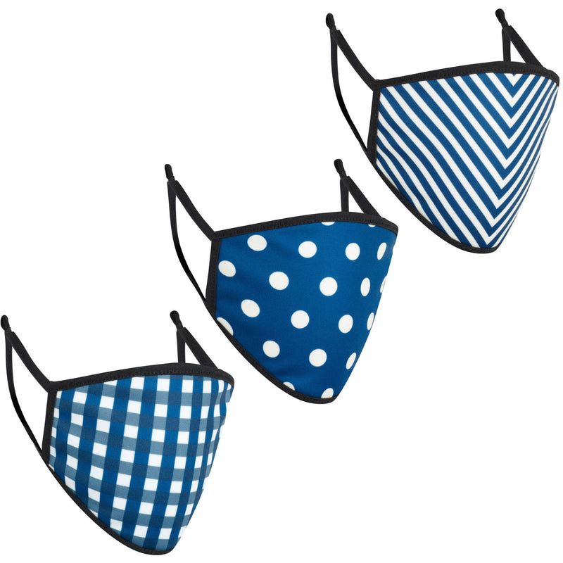 3-Pack of Kids Face Masks in Blue