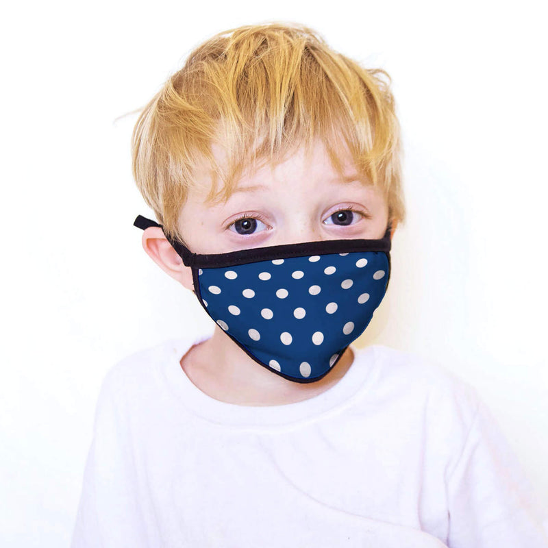 5-Pack of Kids Face Masks in Blue