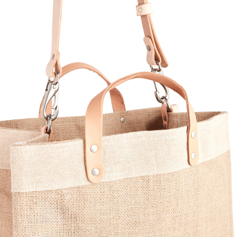 Market Bag & Strap in Natural