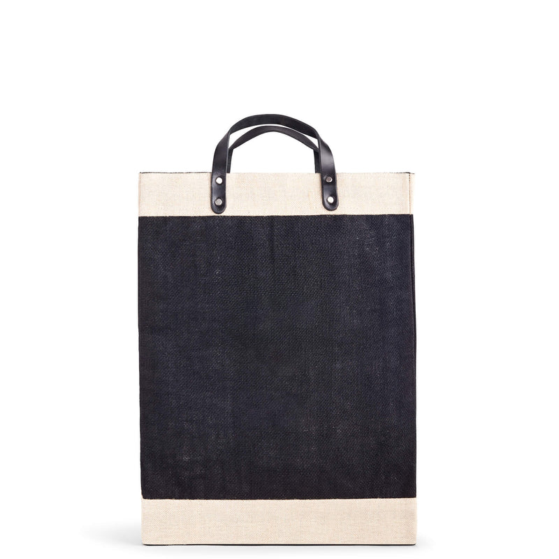 Market Bag in Black with Monogram