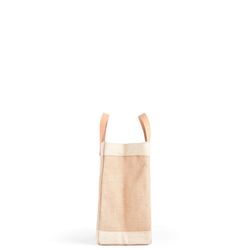 "Petite Market Bag in Natural with ""JOY"""