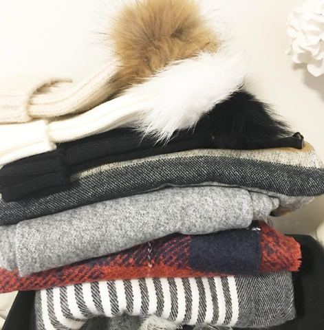 wool scarves and hats at wish.list boutique